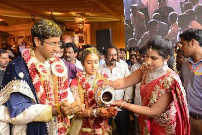Tejaswini-Sri Bharat engagement rituals