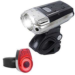 Bike Light, Sahara Sailor USB Rechargeable 4 Modes Bicycle Headlight LED Waterproof Bike Front Light, Free Tail Light Included