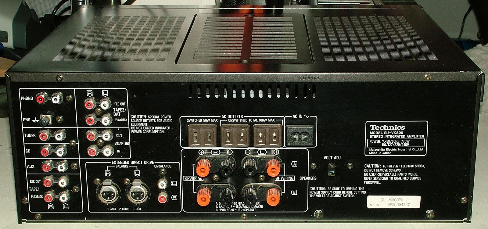 Rare In The Us Vintage Technics Su Vx800 200 Watt