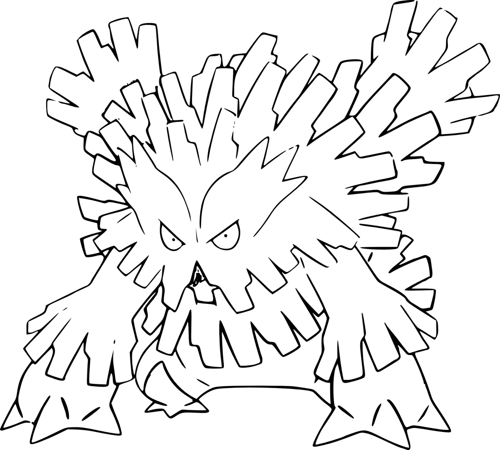 Pokemon Abomasnow Coloring Pages Collection Free Pokemon