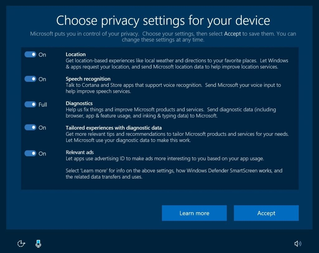 Windows 10 Creators Update has new upcoming Privacy Changes