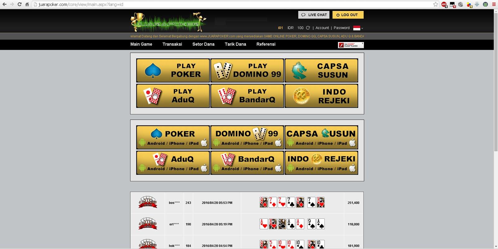 Juara Poker Uang Asli Rupiah Langkah Langkah Pendaftaran Cara Bermain Juara Poker