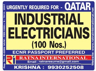 Electrician job vacancies qatar