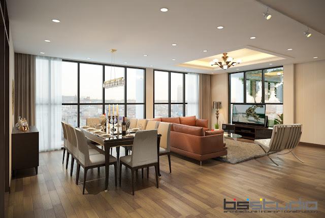 Thiết kế nội thất căn hộ ONE 18