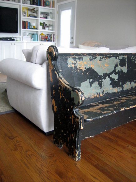 Decorating with a church pew
