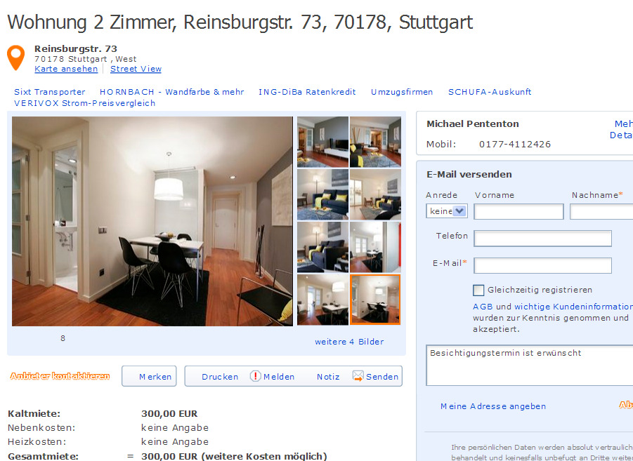 wohnung miete 2 zimmer scharnhorststrasse 6 7 10115 berlin. Black Bedroom Furniture Sets. Home Design Ideas