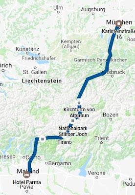 Karte München Mailand Taxi