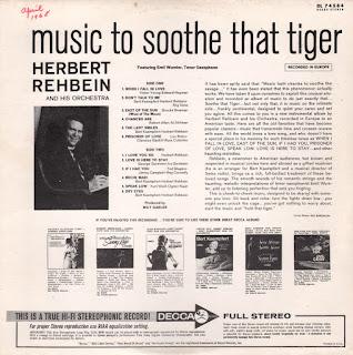 Herbert Rehbein And His Orchestra - ...And So To Bed (The Love Music Of Bert Kaempfert)