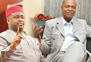 Senator Bassey Albert Akpan and   Ochai Jacob Otokpa