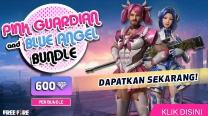 Skin Bundle Pink Guardian dan Blue Angel Free Fire - YTB