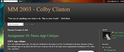 Colby's blog screencap
