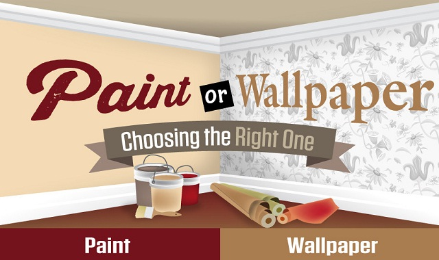 Paint or Wallpaper: Choosing the Right One #infographic ~ Visualistan
