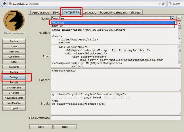 Quota Bandwidth User Manager Hotspot Mikrotik  Voucher Design - create a voucher