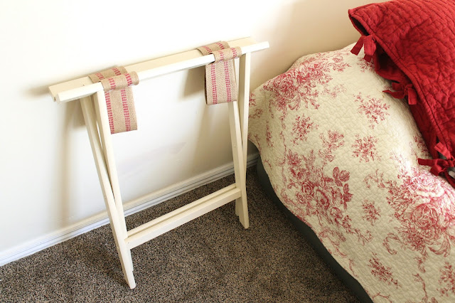 guest room update and diy luggage rack