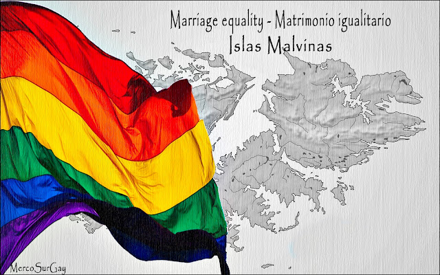 "Islas Malvinas - Falkland Islands. Aprobación de matrimonio ""Gay"" marriage approval"