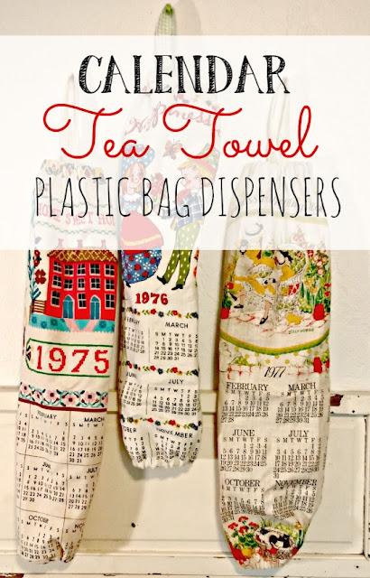 How to repurpose a tea towel into a plastic bag dispenser!