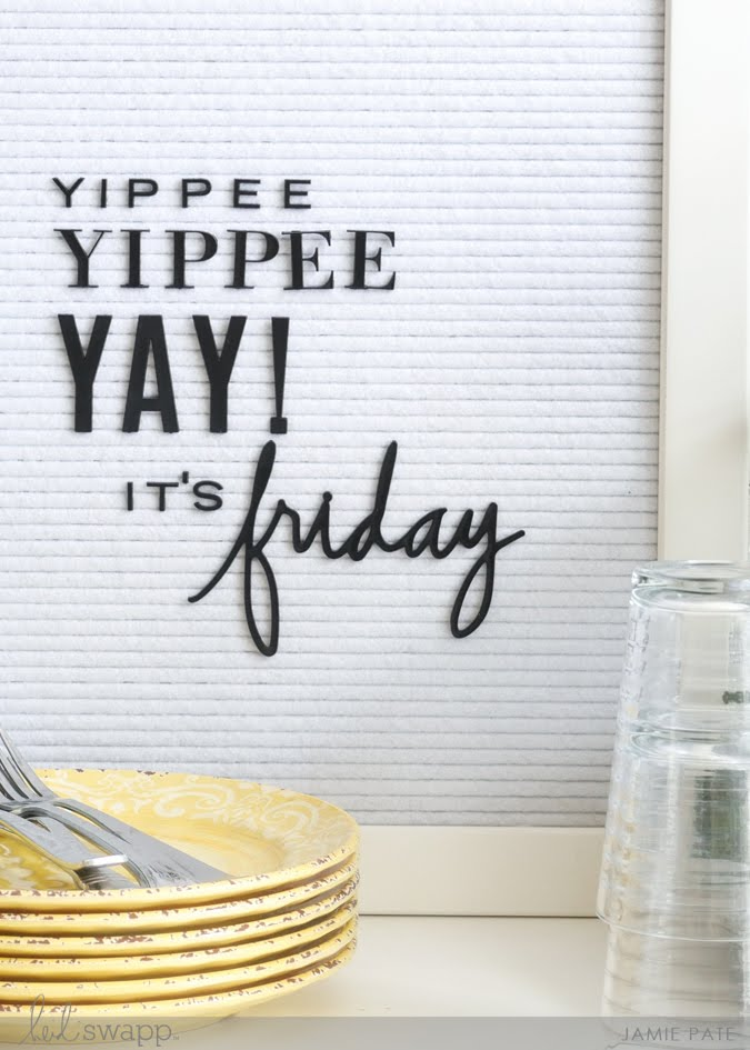 Heidi Swapp Letterboard and Friday Vibes by Jamie Pate | @jamiepate for @heidiswapp