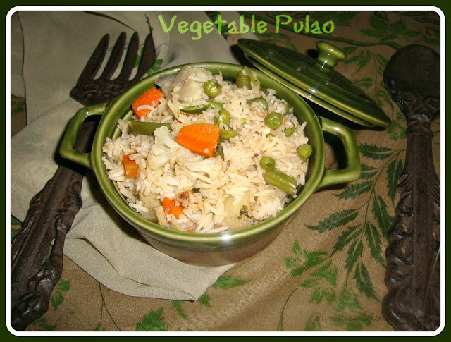 images of Vegetable Pulao /Veg.Pulao - Easy,Simple & Quick Veg. Pulao Recipe