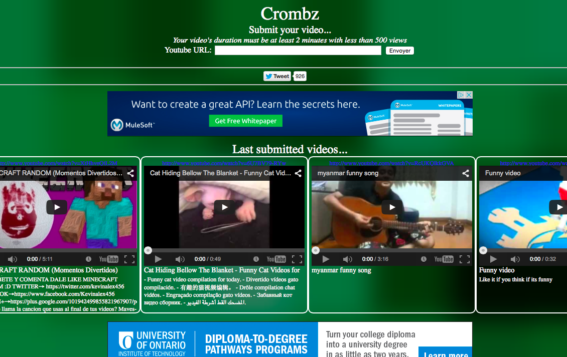 Hot Coding!: Crombz is for new Youtubers!