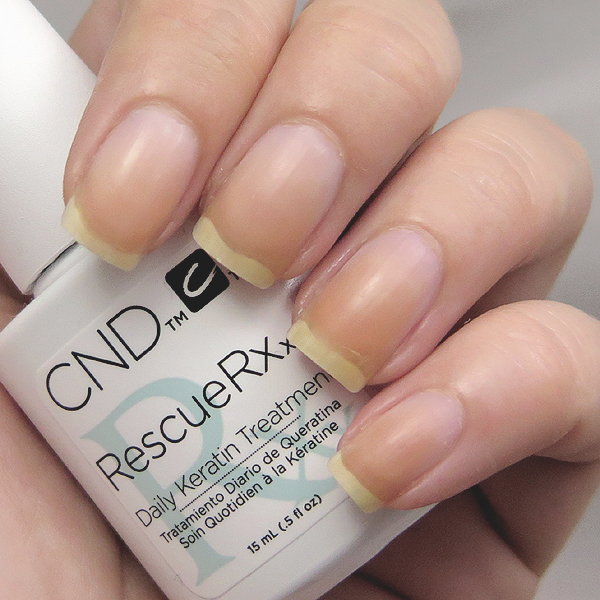 CND RescueRXx Daily Keratin Treatment Usage Test