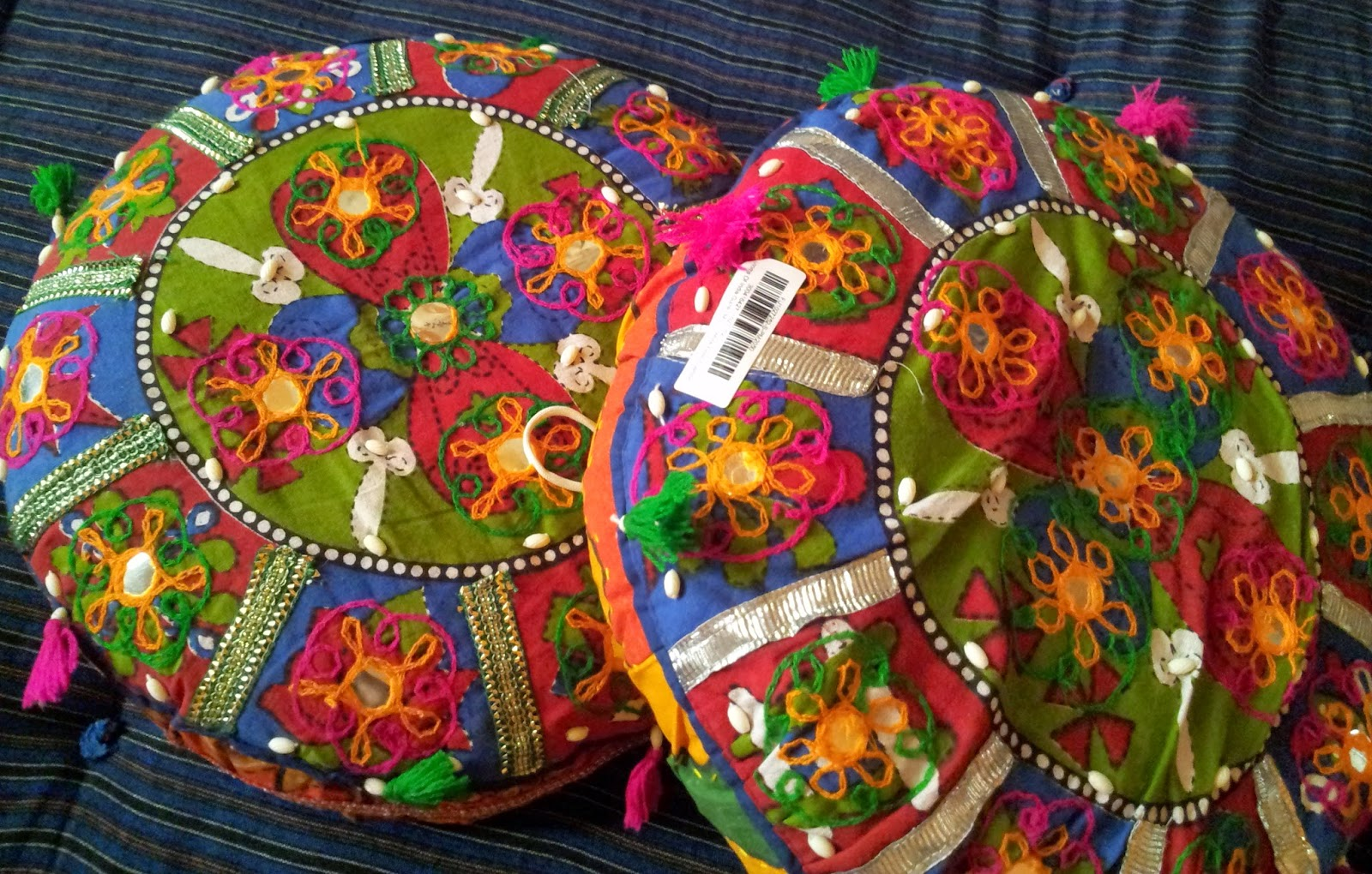 39652ee3f6 Dupes of Rajasthani Gujarati Round Cushions In Just Rs295 - Shopping ...