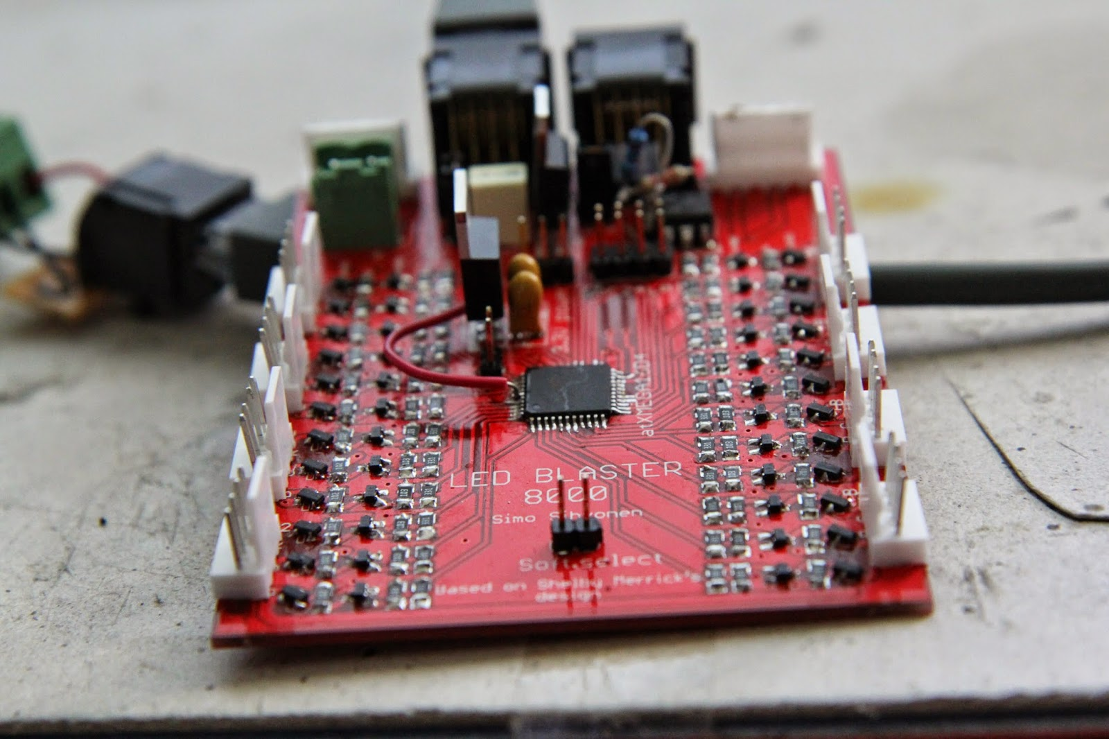 Mcmuffins Hobby Blog Project Ledblaster 8000 Futurlec The Electronic Components And Semiconductor Superstore Credited Merrick As Original Board Designer Cheers Mate Jumper On Bottom There Is Used To Change Between Dmx Protocol Generic Serial