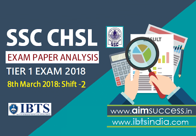 SSC CHSL Tier-I Exam Analysis  8th March 2018 Shift - 2