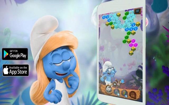 تحميل لعبة السنافر smurfs bubble story الرائعة