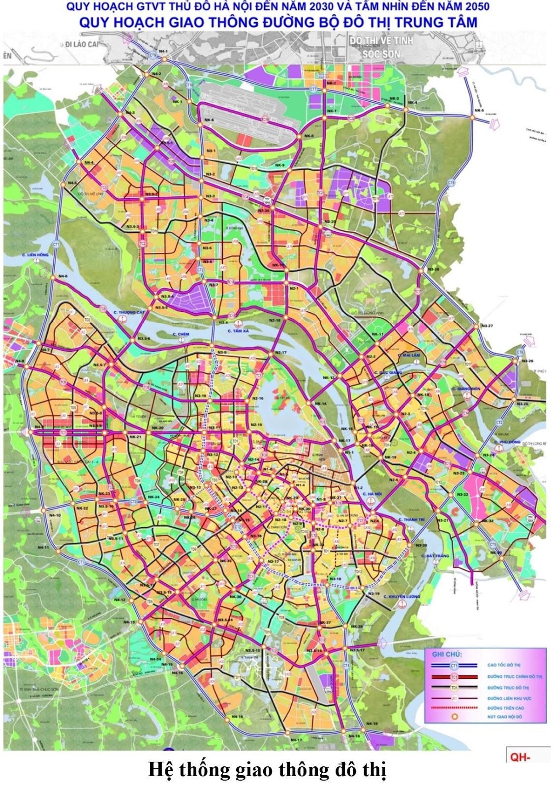 Mạng lưới giao thông đô thị Hà Nội