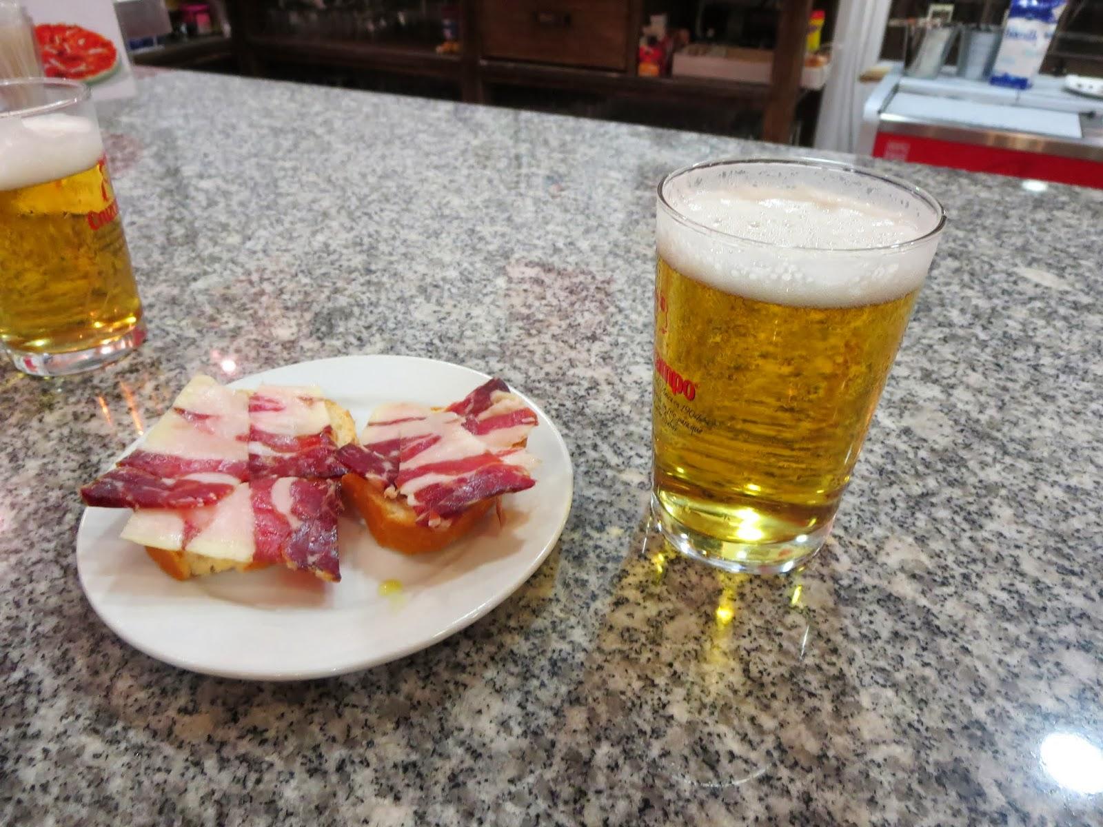Tapas in Málaga, Spain