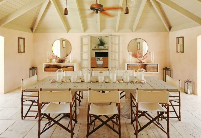 inspirations on the horizon nautical coastal rooms rh ourboathouse com Coastal Dining Room Table Farm Table Dining Room Decorating