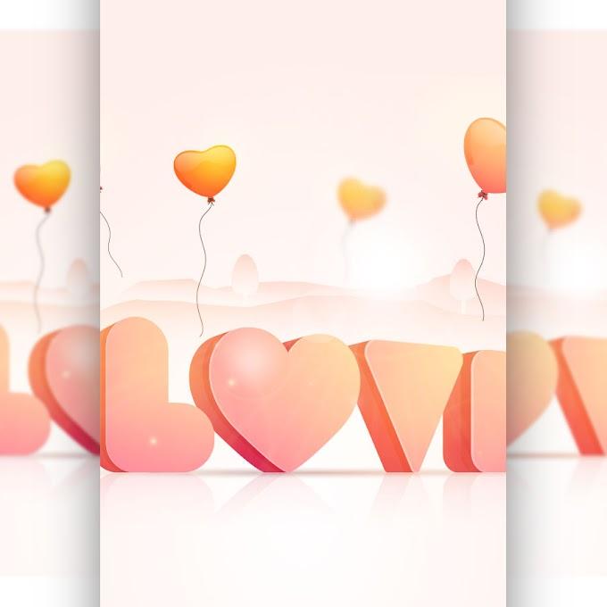 Three-dimensional romantic LOVE free vector design