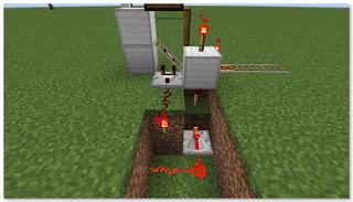 Minecraft 高速トロッコ輸送 アイテム積み込み駅 作り方⑤