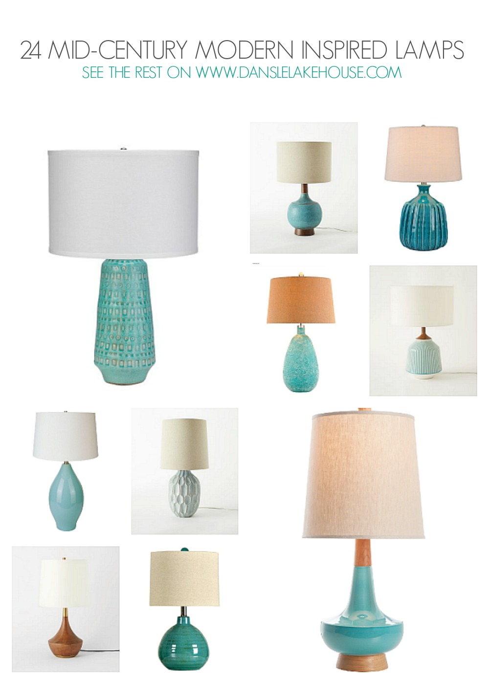 24 Stunning Mid-Century Modern Inspired Lamps - See the Rest on www.danslelakehouse.com // mid-century modern inspired home decor