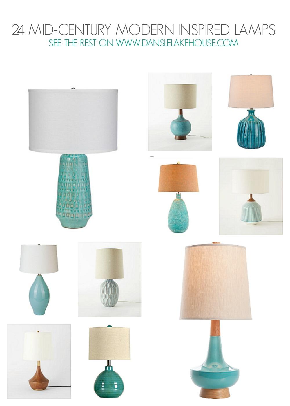 24 Stunning Mid-Century Modern Inspired Lamps - See the Rest on www.danslelakehouse.com // mid-century modern inspired home decor