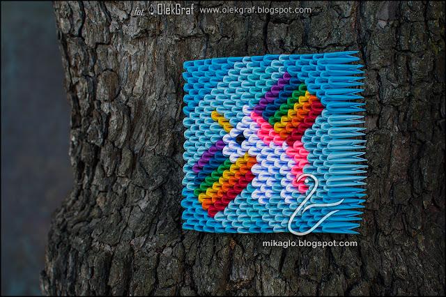 458. Jednorożec z origami obrazek / 3d origami unicorn