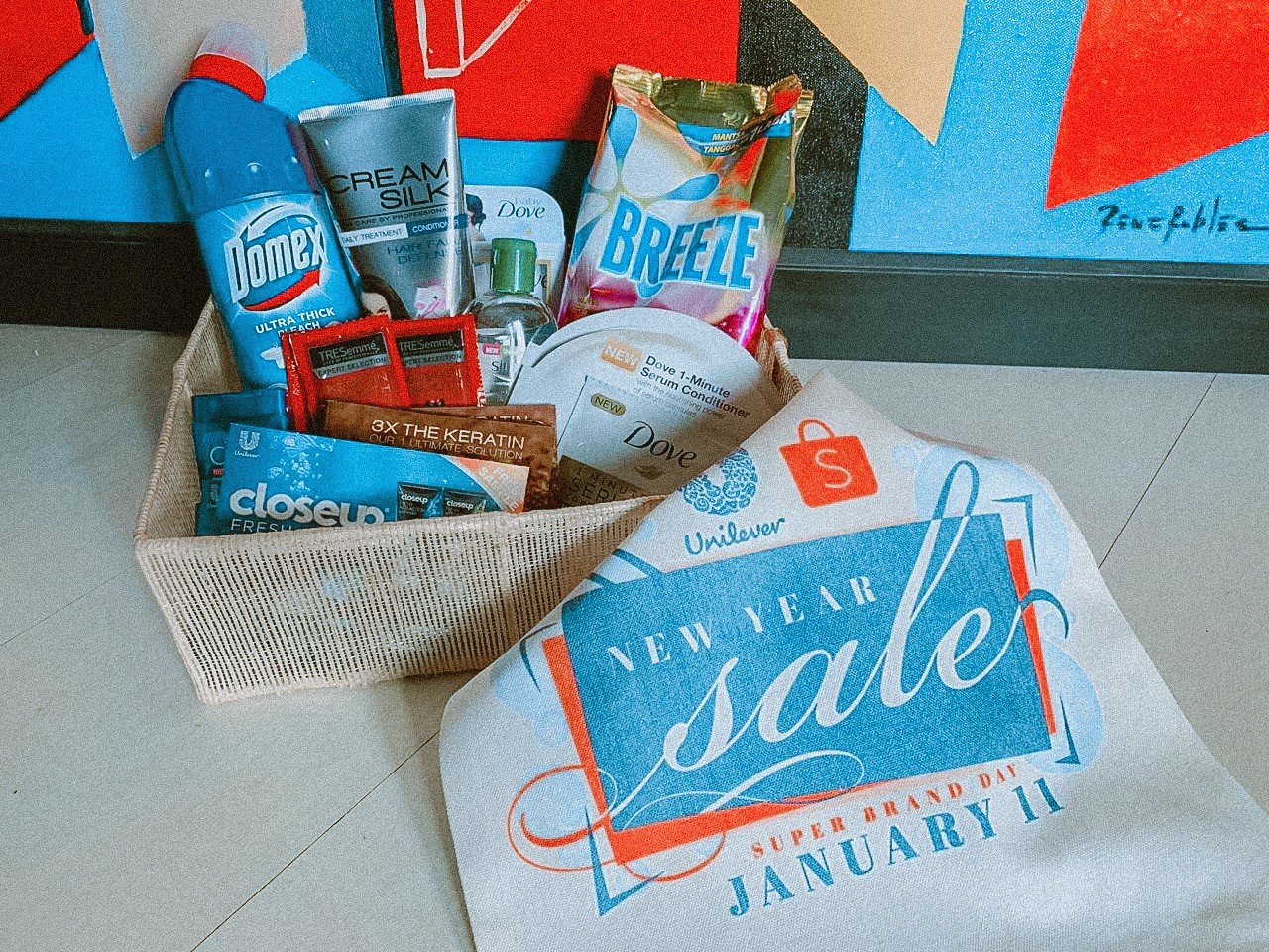 Unilever's New Year Sale at Shopee