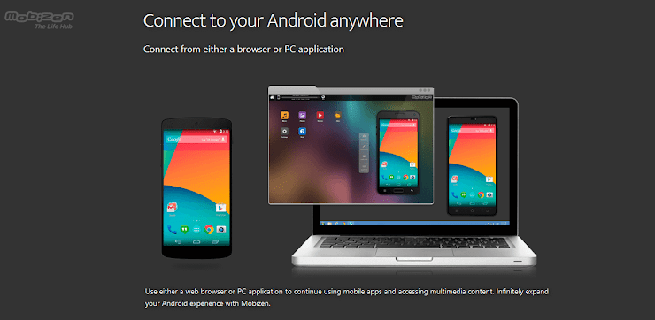 Mobizen Android connecting application