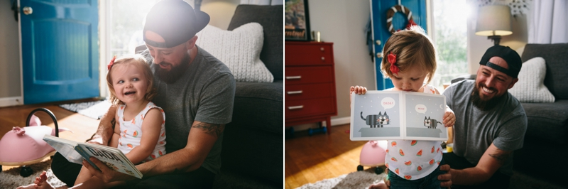 dad and daughter read jimmy fallon's book together
