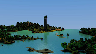 Minecraft Island Landscape HD Wallpaper