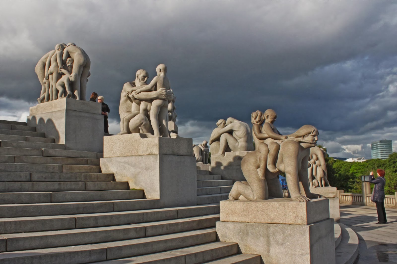 Timenplace Frogner Park In Oslo Norway