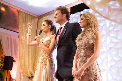 Durante a festa, Chris, Bertolazzi e Beca - Crédito: Victor Silva/SBT