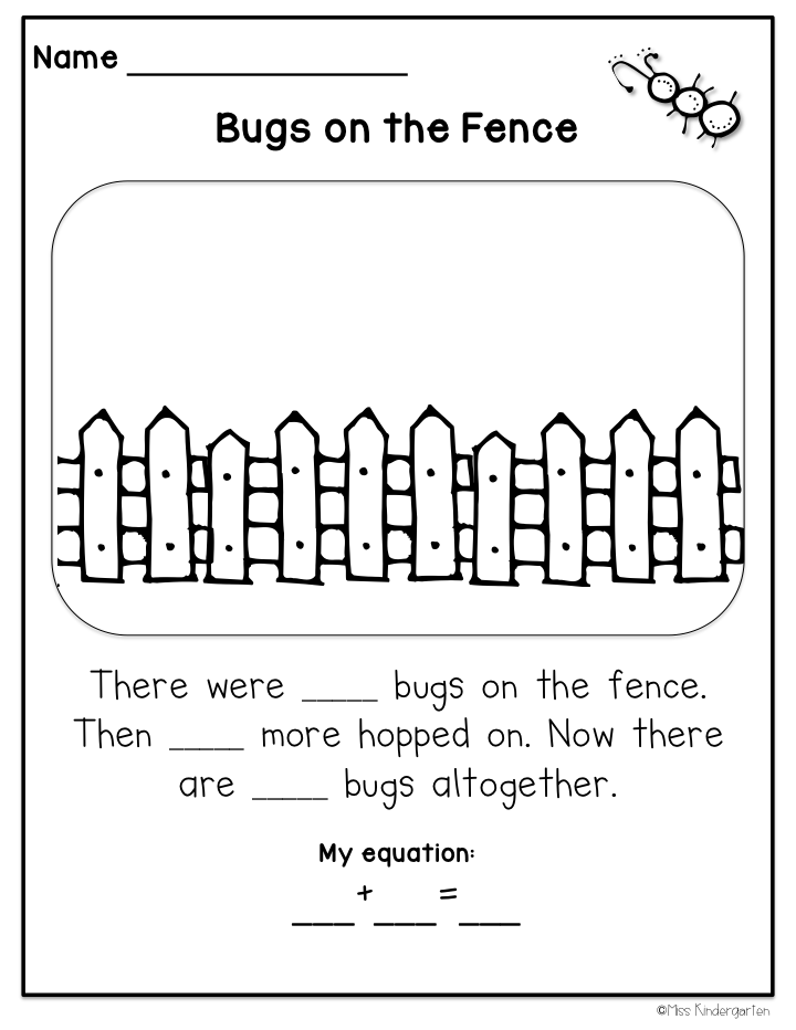 math word problems springy stories miss kindergarten. Black Bedroom Furniture Sets. Home Design Ideas