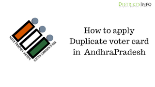 How to Get a Duplicate Voter ID Card in AndhraPradesh