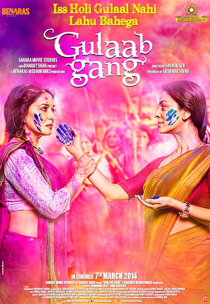 Poster of Gulaab Gang 2014 Full Movie 720p HDRip With ESubs Download