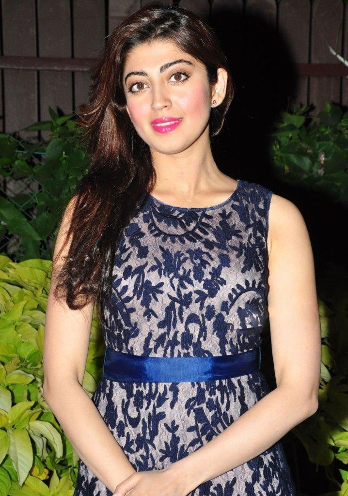 Actress Pranitha Subhash Long Hair Photoshoot In Blue Dress