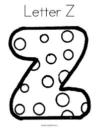 Letter Z Coloring Page 2