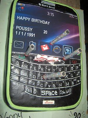 lustige Geburtstagskuchen Idee Handy