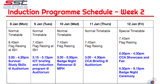 Programme of the Orientation and Week 2 Schedule