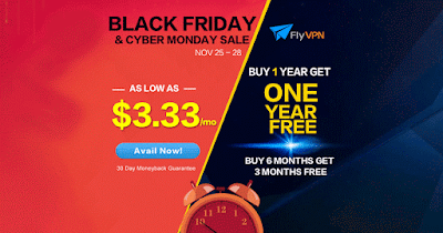 Black Friday & Cyber Monday FlyVPN promotion 2016